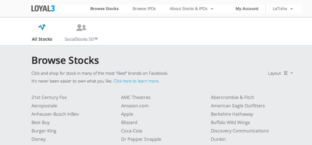 Loyal3 Browse Stocks