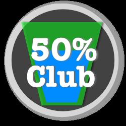 50 percent savings club