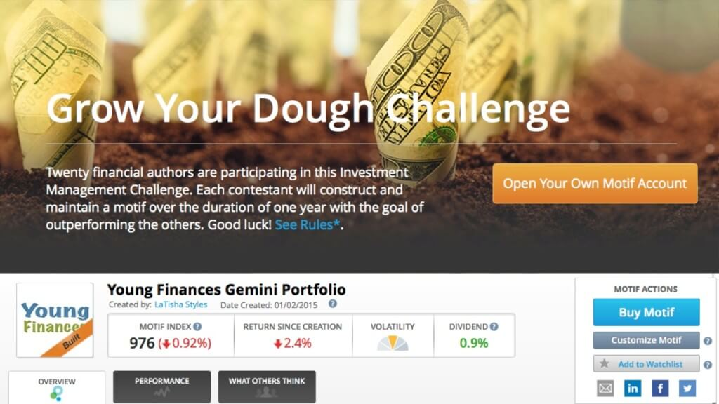 Grow Your Dough 2.0 - Motif Leaderboard | Young Finances