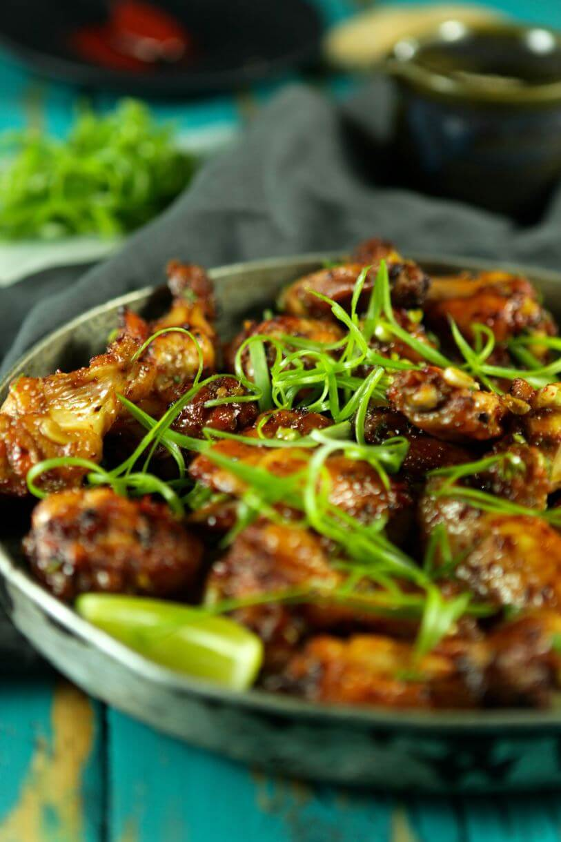 Sticky Spicy and Sweet Korean Chicken Wings