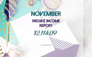 My November 2016 Passive Income Report – $2,114.09