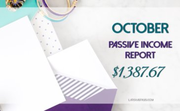 My October 2016 Passive Income Report – $1,387.67