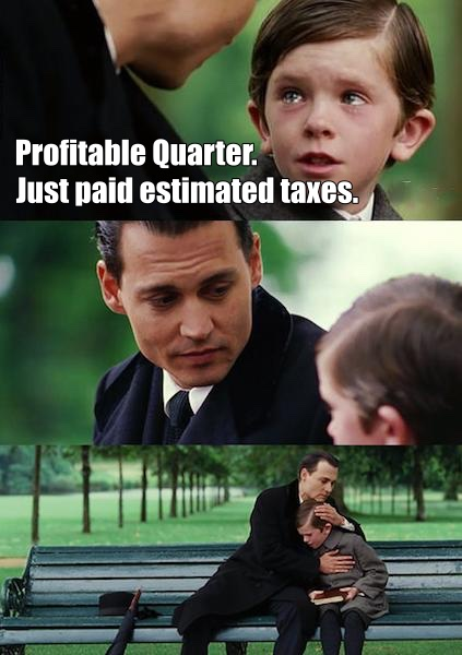 profitable quarter finding neverland meme